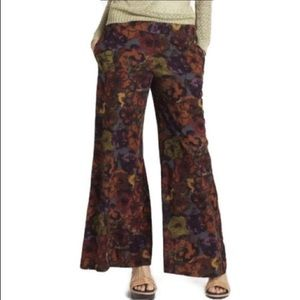 Anthropologie Wide Leg Floral Pants